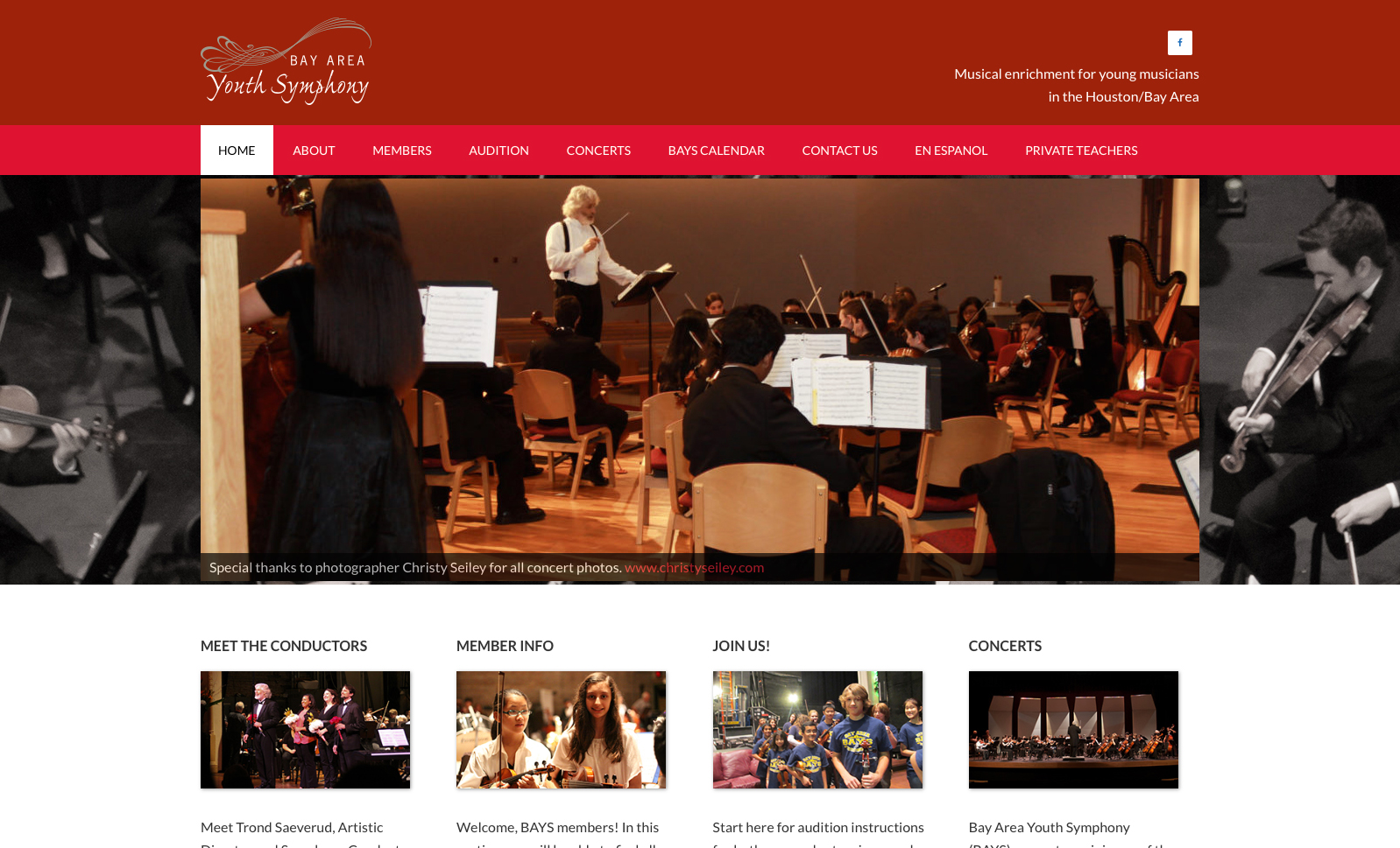Bay Area Youth Symphony web site