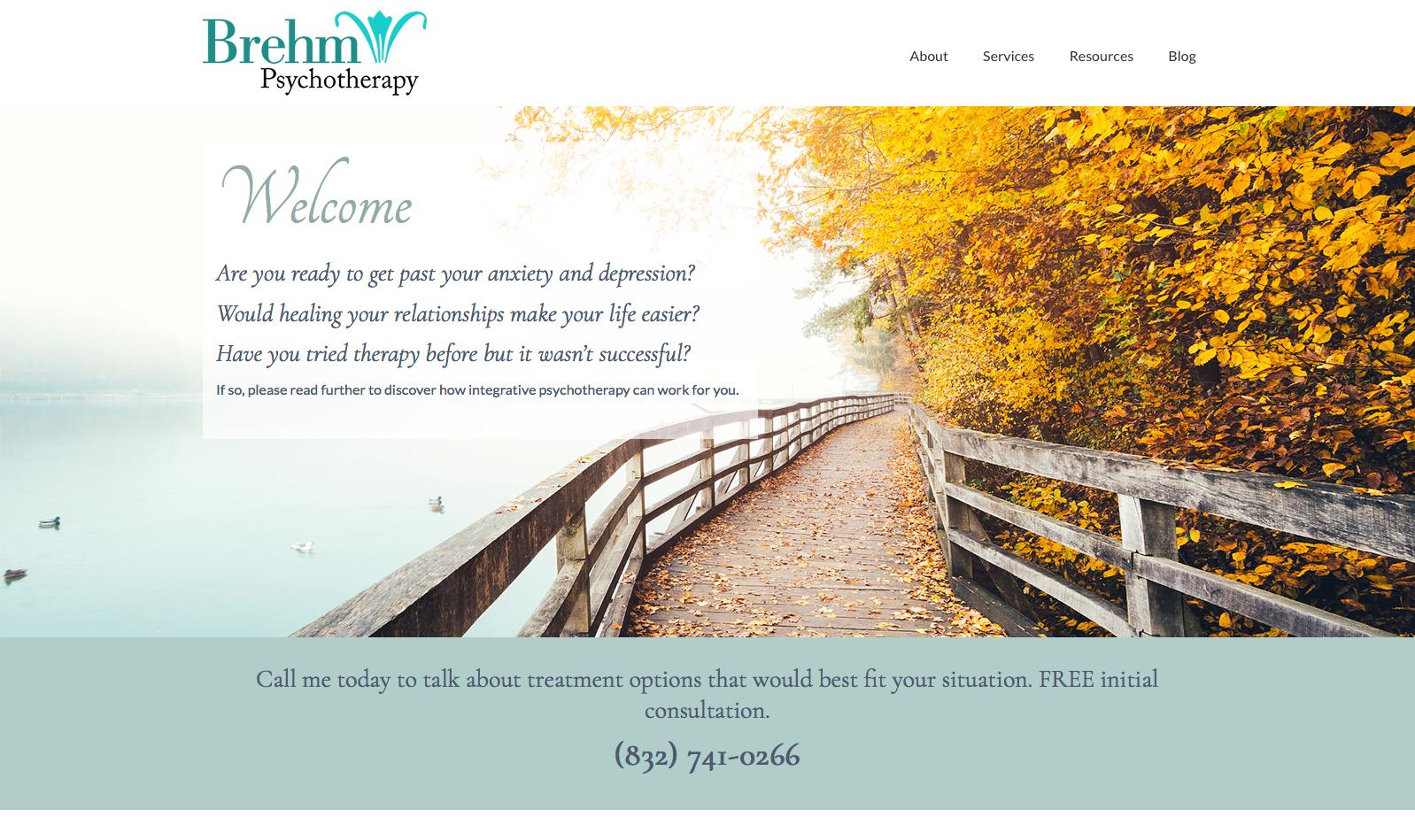 Brehm Psychotherapy web site