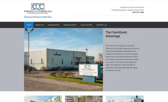 ChemQuest Chemicals web site