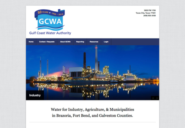 Gulf Coast Water Authority web site