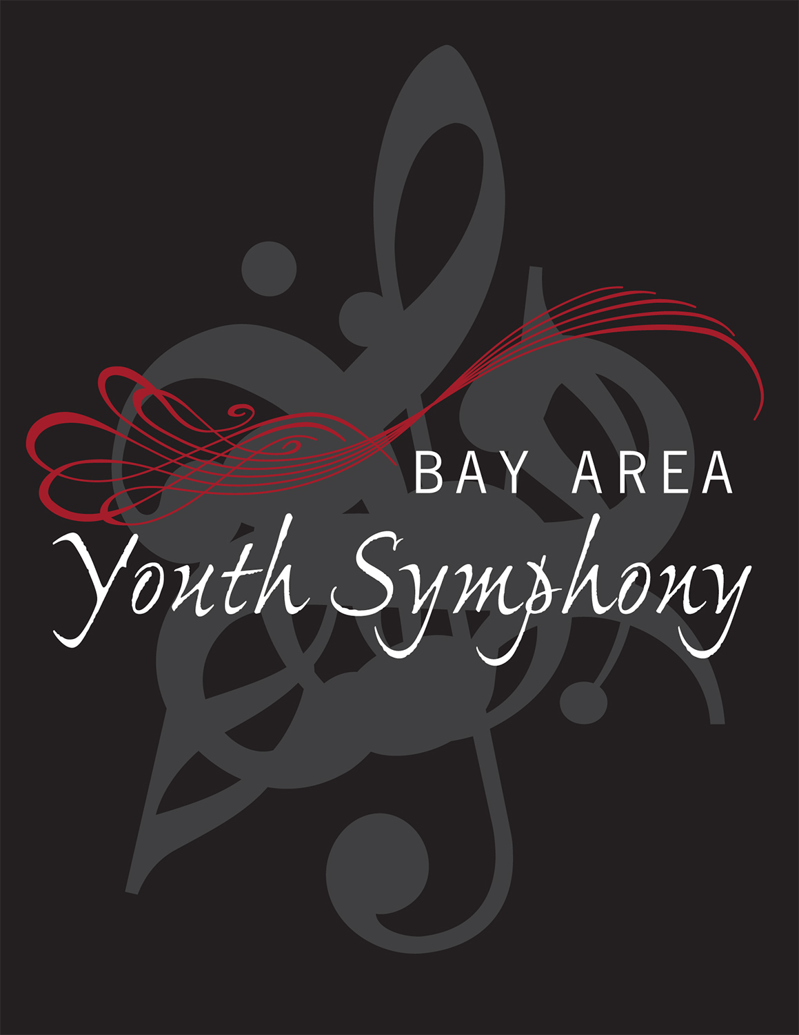 Bay Area Youth Symphony t-shirt design