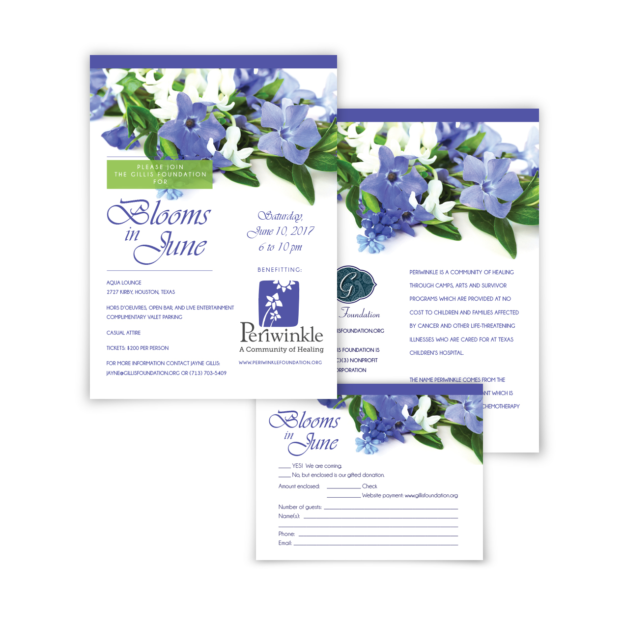 Blooms in June invitation collection