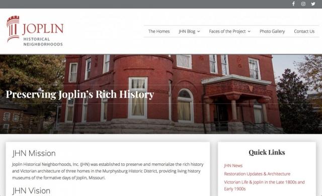 Joplin Historical Neighborhoods, Inc. web site