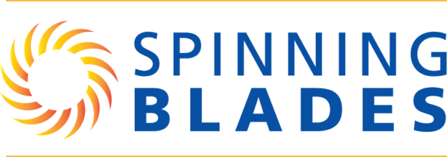 Spinning Blades logo (commercial landscaping company)